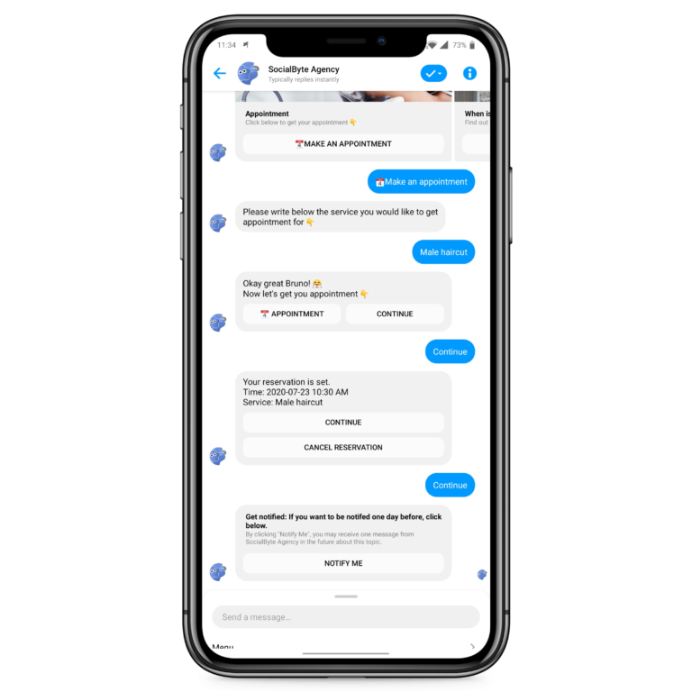 Say 👋 in our [Messenger](https://m.me/socialbyteagency?ref=w12133992) and try it yourself